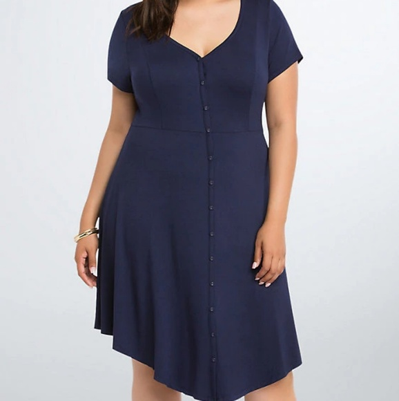 torrid Dresses & Skirts - BUTTON FRONT SKATER DRESS